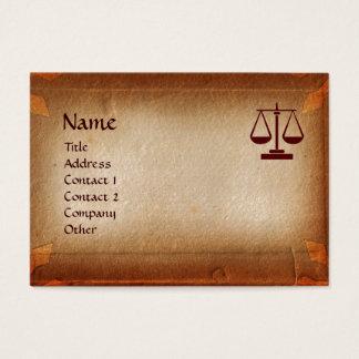 ANTIQUE PARCHMENT / LEGAL OFFICE, ATTORNEY BUSINESS CARD