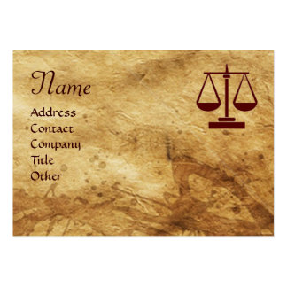 ANTIQUE PARCHMENT / LEGAL OFFICE,ATTORNEY Monogram Large Business Cards (Pack Of 100)