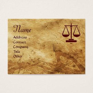 ANTIQUE PARCHMENT / LEGAL OFFICE,ATTORNEY Monogram Business Card