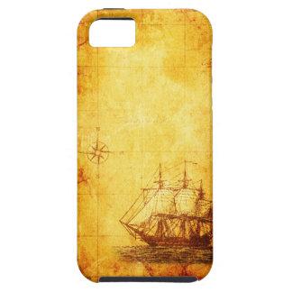 Antique Parchment  Map & Ship iPhone SE/5/5s Case