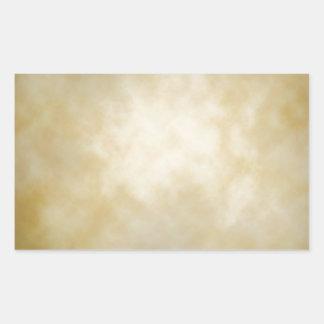 Antique Parchment Vignette Texture Background Rectangular Sticker