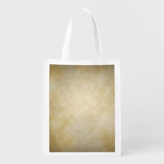 Antique Parchment Vignette Texture Background Reusable Grocery Bag
