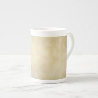Antique Parchment Vignette Texture Background Porcelain Mug