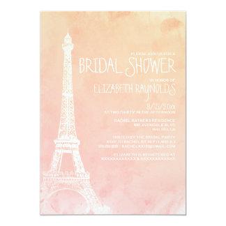 Antique Paris Bridal Shower Invitations