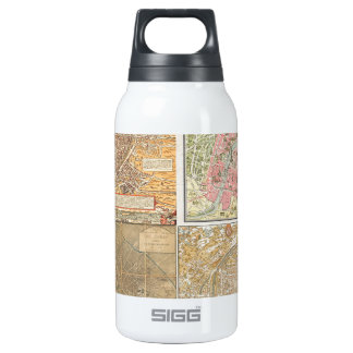 Antique Paris Maps Thermos Bottle