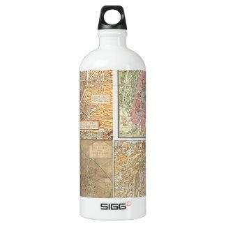 Antique Paris Maps Water Bottle