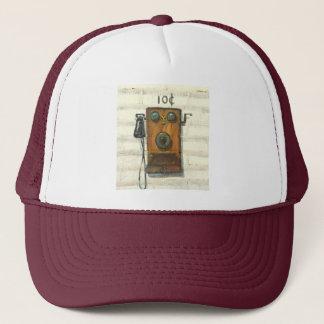 antique pay phone hat