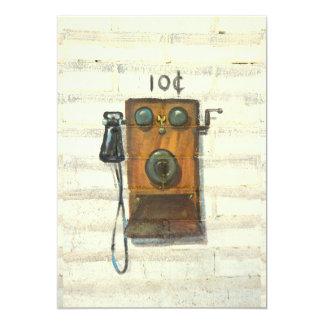 antique pay phone invitation card