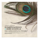 Antique Peacock Feathers Wedding Invitations Personalized Invitation