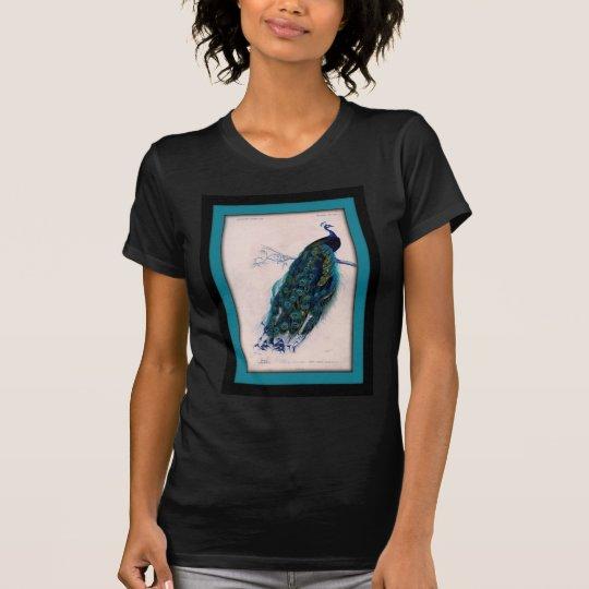 Antique Peacock Print T-Shirt