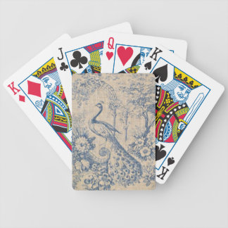 Antique Peacock Toile Bicycle Playing Cards