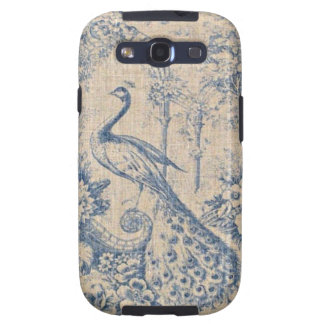Antique Peacock Toile Samsung Galaxy SIII Covers