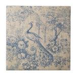 Antique Peacock Toile Ceramic Tiles