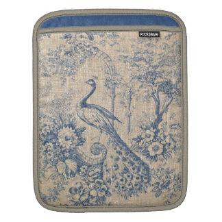 Antique Peacock Toile iPad Sleeve