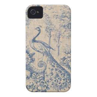 Antique Peacock Toile iPhone 4 Covers