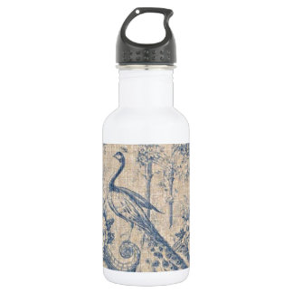 Antique Peacock Toile 18oz Water Bottle