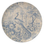Antique Peacock Toile Plate