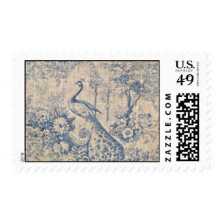 Antique Peacock Toile Postage Stamp