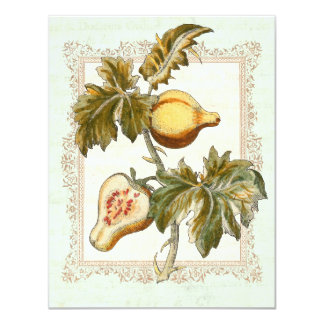 Antique Pears Autumn Harvest Dinner Party Card
