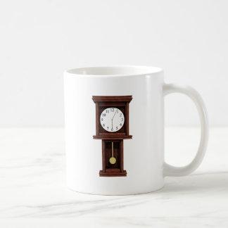 Antique Pendulum Clock Classic White Coffee Mug