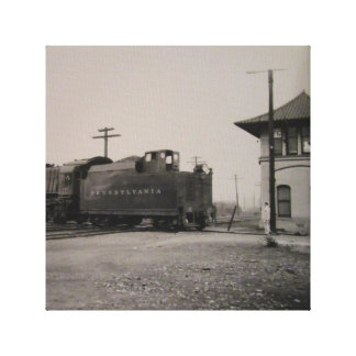Antique Pennsylvania Train and Station Canvas Art