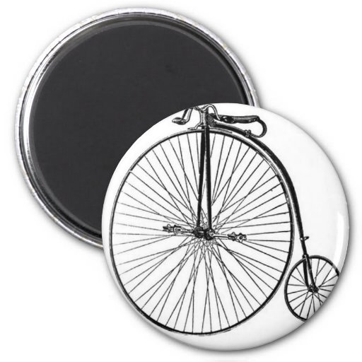 Antique Penny Farthing Bicycle Magnet
