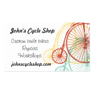 Antique penny farthing design Business card