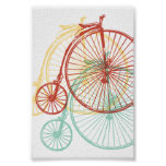 Antique penny farthing design posters