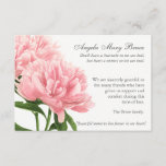"Antique Peonies Funeral Sympathy Thank You Card<br><div class=""desc"">This beautiful Watercolor Antique Peonie Floral design can be used for many different occasions. It is a fully personalized funeral sympathy thank you card. You can easily change text (color, font style, size and position) by clicking the customise button. Available in matching Memorial Service invitation, Sympathy thank you note card...</div>"
