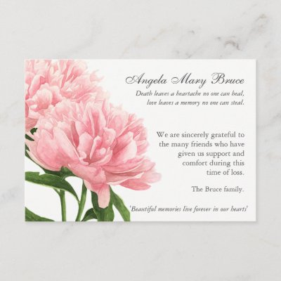 Memory Of A Loved One Photo Funeral Thank You Card Zazzle Com