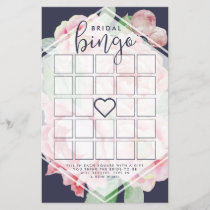 Antique Peony Bridal Shower Bingo Game