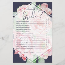 Antique Peony How Well Do You Know the Bride Game
