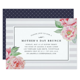 Antique Peony | Mother's Day Brunch Invitation