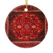 Antique Persian Mashhad Rug Ceramic Ornament