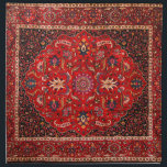 "Antique Persian Mashhad Rug Cloth Napkin<br><div class=""desc"">The city of Mashhad has long been one of the centers for production of famous Persian carpets. It is also one of the oldest centers of carpet weaving. This particular rug is signed by master weaver Saber. The familiar medallion carpet is usually a symmetrical the design that often features a...</div>"