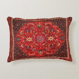 Antique Persian Mashhad Rug Decorative Pillow