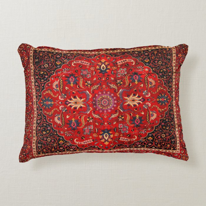 Antique Persian Mashhad Rug Decorative Pillow Zazzle