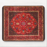 """Antique Persian Mashhad Rug Mouse Pad<br><div class=""""desc"""">The city of Mashhad has long been one of the centers for production of famous Persian carpets. It is also one of the oldest centers of carpet weaving. This particular rug is signed by master weaver Saber. The familiar medallion carpet is usually a symmetrical the design that often features a...</div>"""