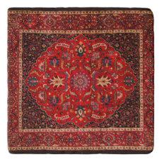 Antique Persian Mashhad Rug Trivet