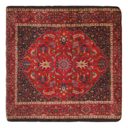 Antique Persian Mashhad Rug Trivet