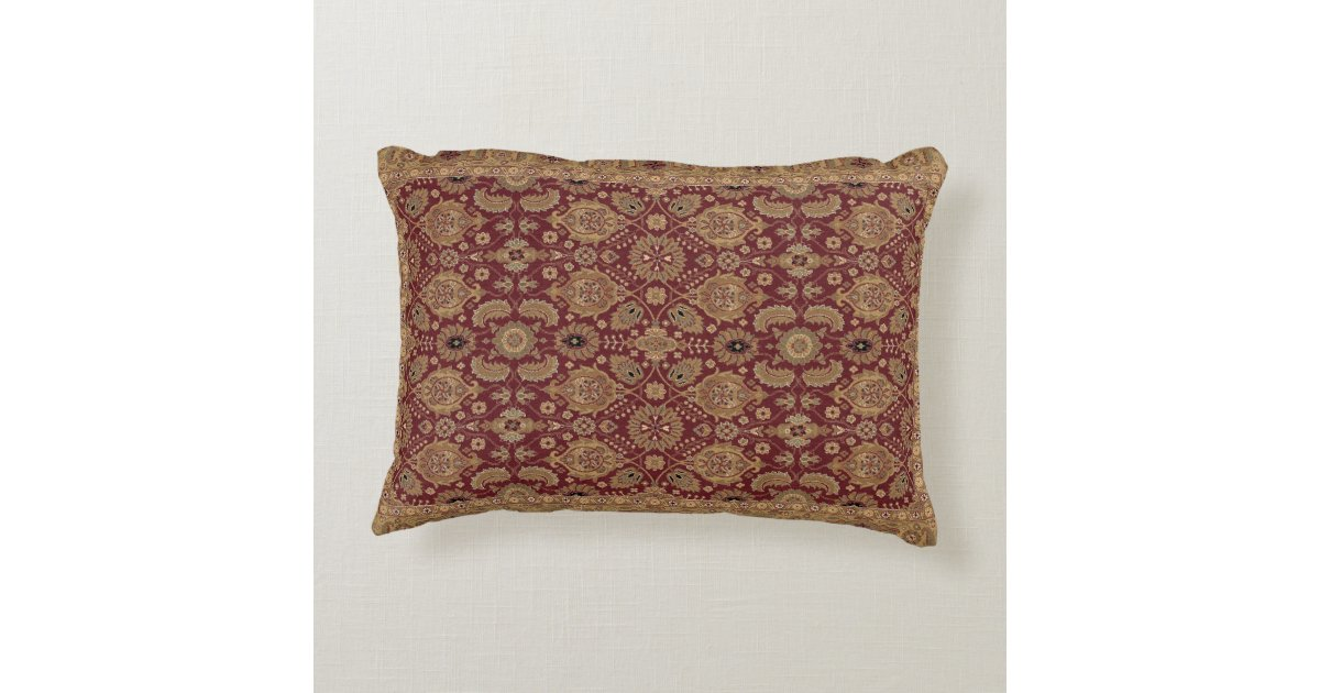Throw Pillows With Matching Rug : Antique Persian Rug Accent Pillow Zazzle