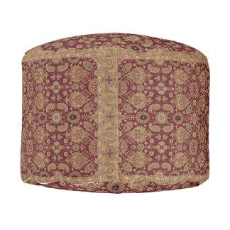 Antique Persian Rug Pouf