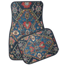 Antique Persian Turkish Carpet, Blue Car Floor Mat
