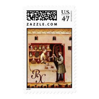 ANTIQUE PHARMACY Medicine, Drug Store,Monogram Stamp