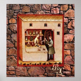 ANTIQUE PHARMACY,Pharmacist,Medicine,Drugstore Poster