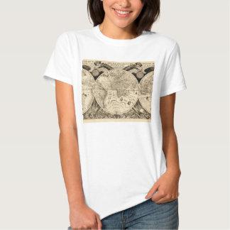 Antique Phillip Eckebrecht 1630 Map of the World T Shirt