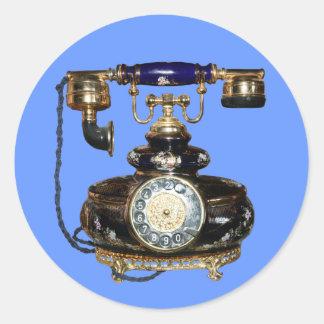 Antique Phone Classic Round Sticker