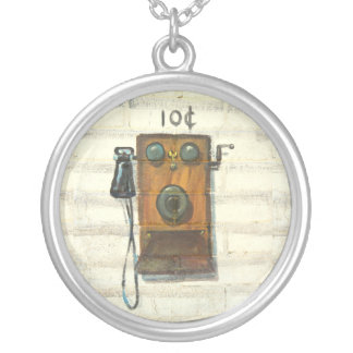 antique phone necklace