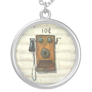 antique phone necklace