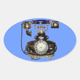 Antique Phone Oval Sticker